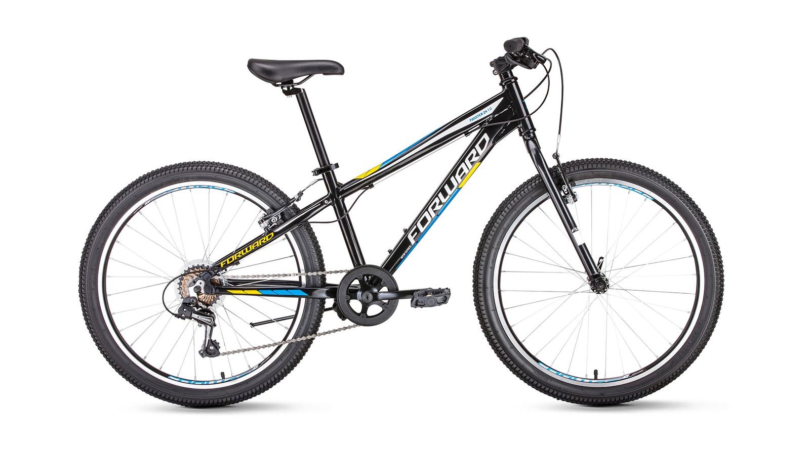 Велосипед Forward Twister 24 1.0, черный велосипед forward twister 24 1 0 2019