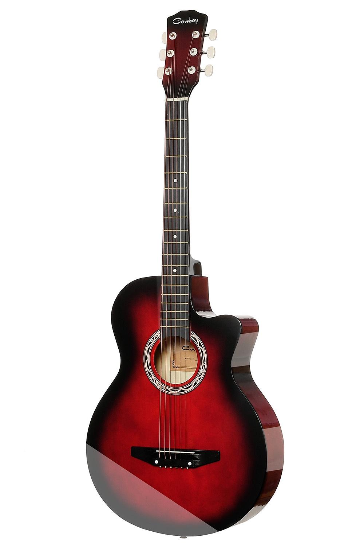 Акустическая гитара COWBOY 38C RDS, красный