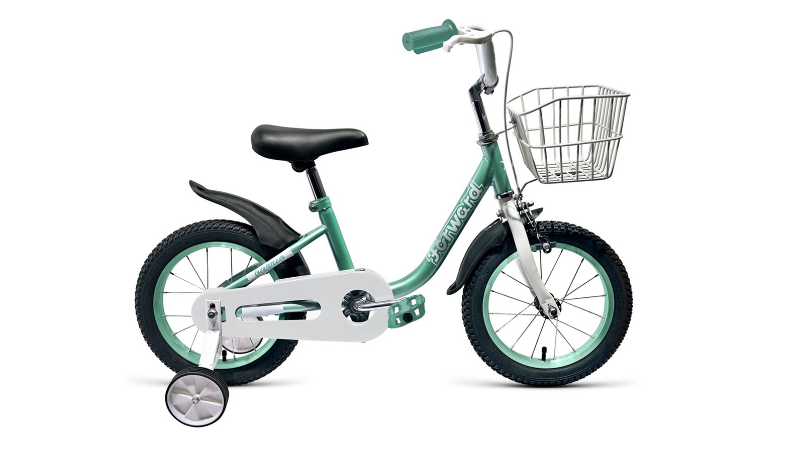 Велосипед Forward Barrio 14 2019, бирюзовый велосипед forward barrio 14 2019