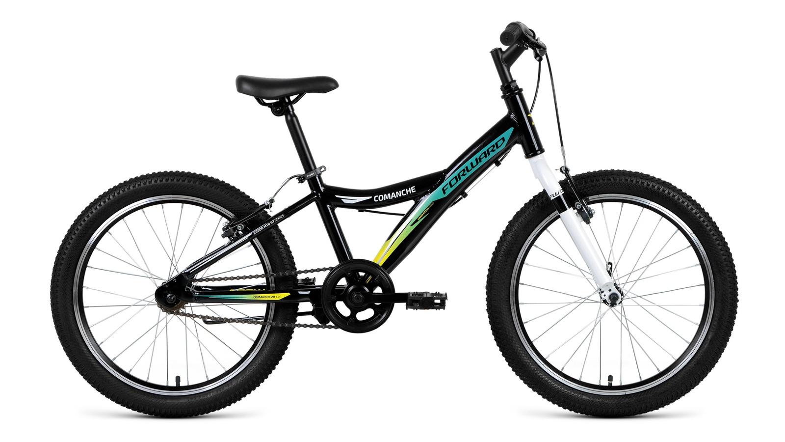 Велосипед Forward Comanche 20 1.0 2019, черный, зеленый