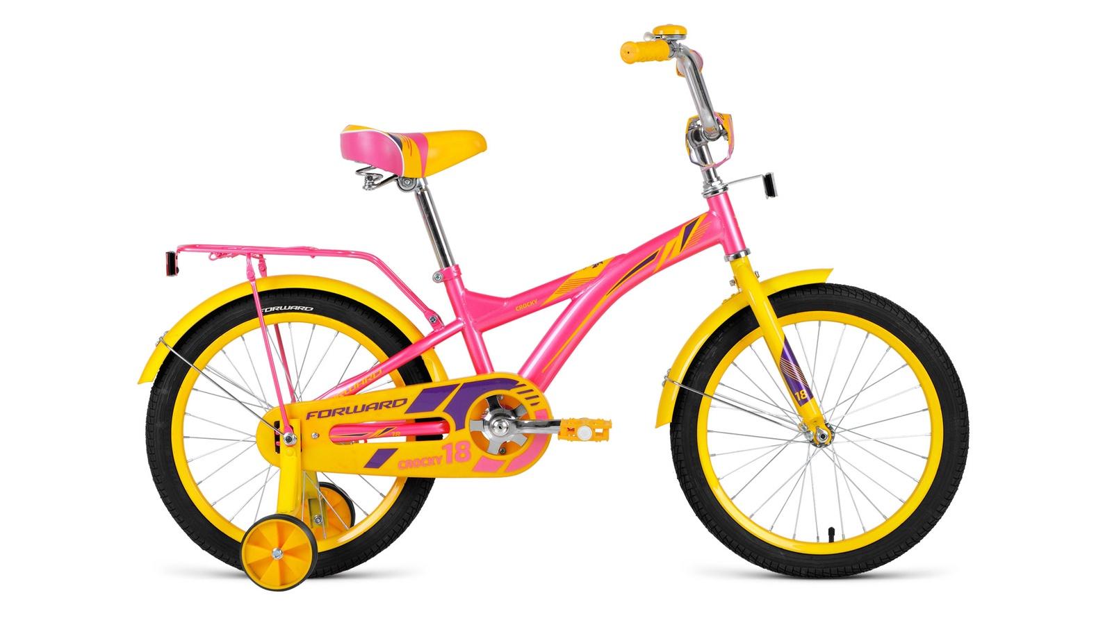 """Велосипед Forward Crocky 18"""" 2019, розовый"""