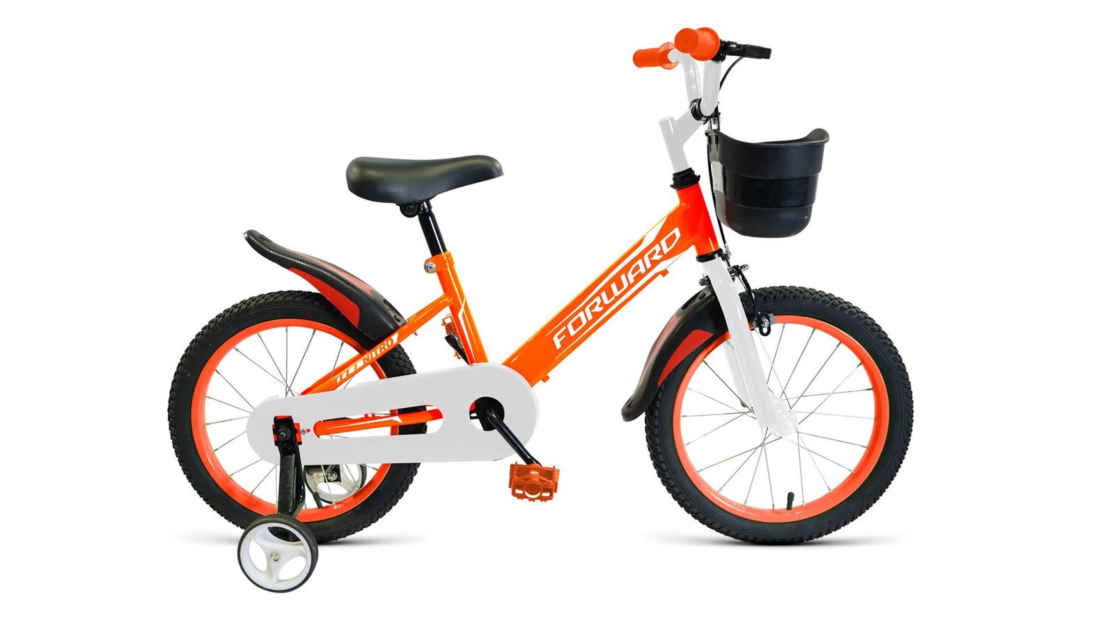 Велосипед Forward Nitro 16, оранжевый, белый велосипед forward nitro 14 2019