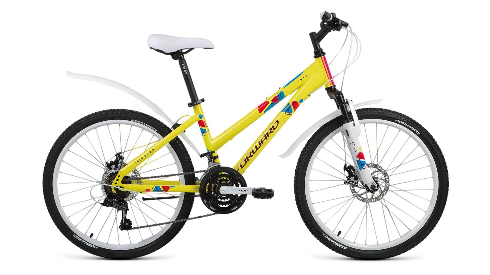 Велосипед Forward Iris 24 2.0 disc, желтый
