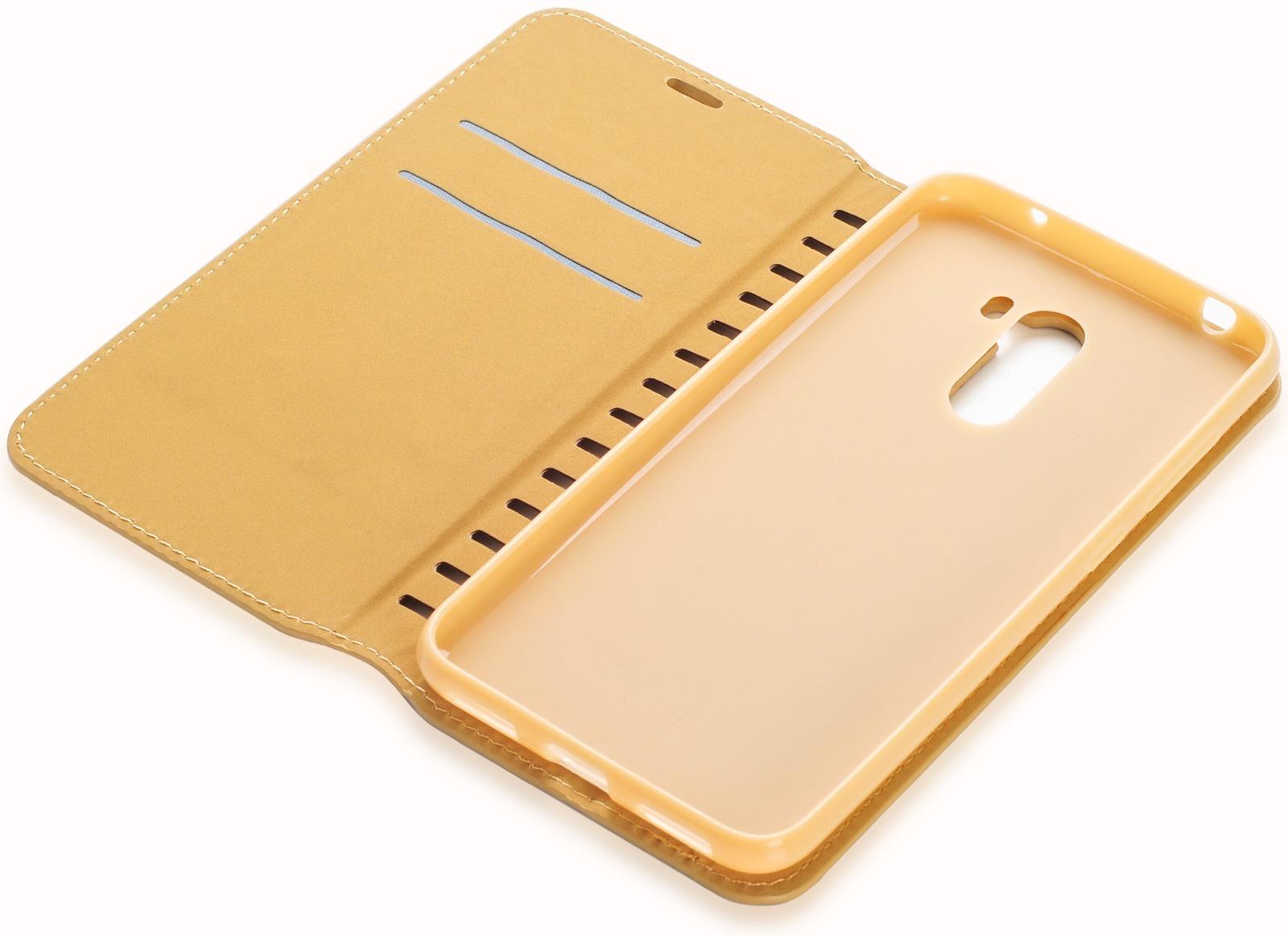 Чехол для сотового телефона Gurdini Premium case книжка с силиконом на магните gold Xiaomi Redmi Pocophone F1, золотой