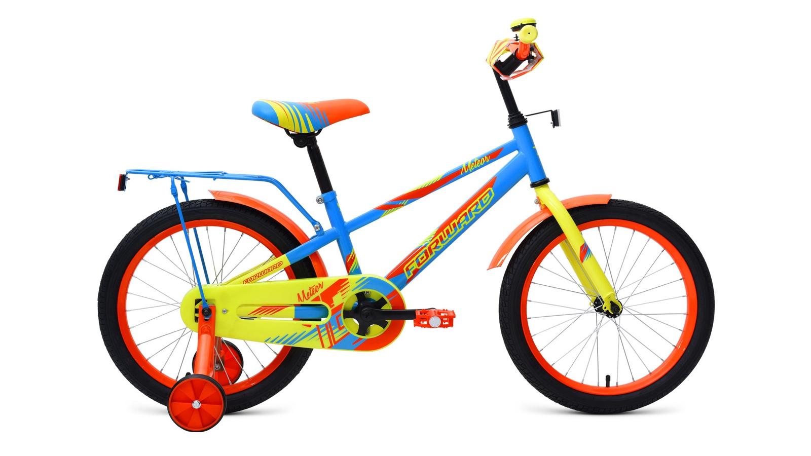 Велосипед Forward Meteor 18, голубой, зеленый