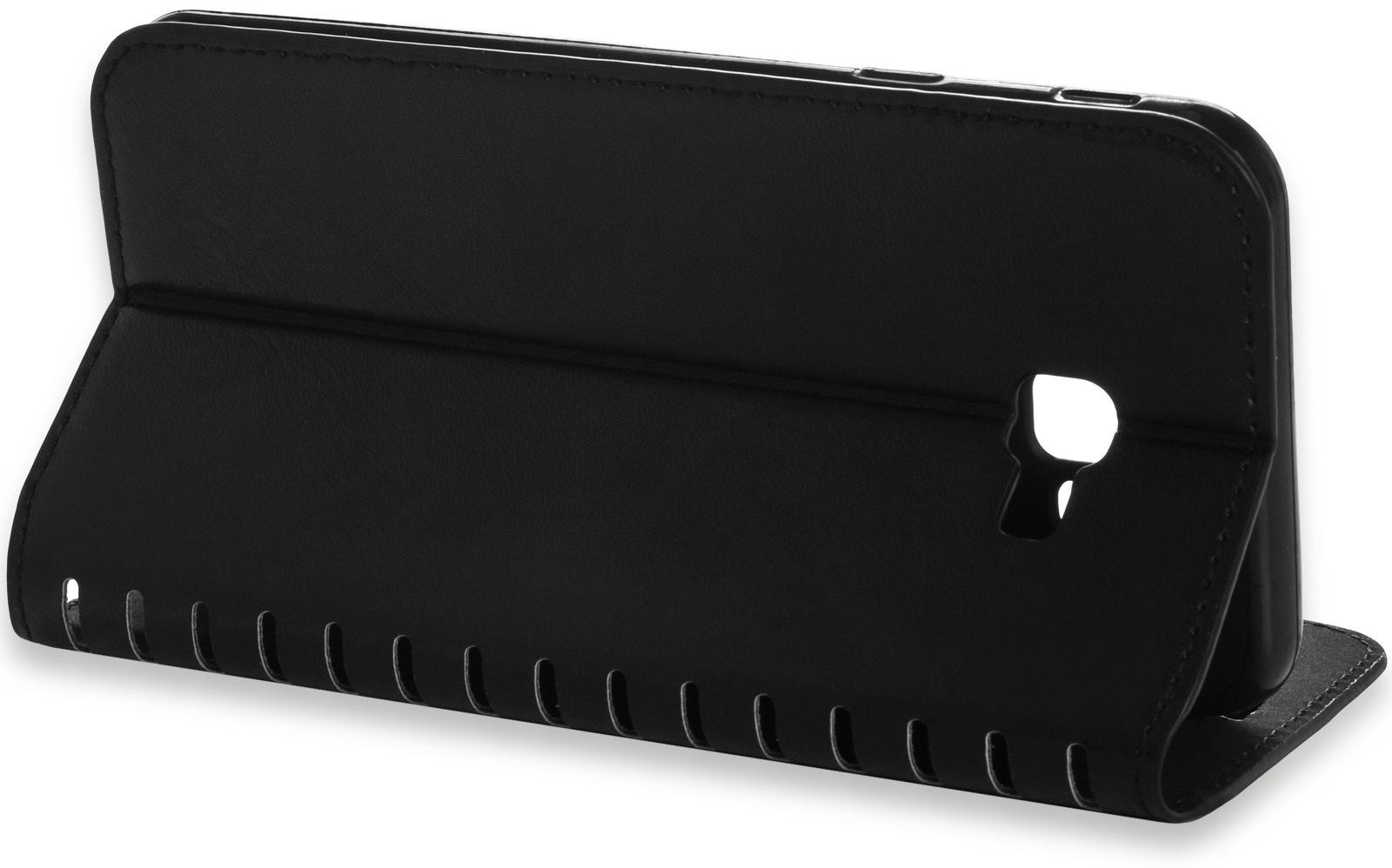 Чехол для сотового телефона Gurdini Premium case книжка с силиконом на магните black для Samsung Galaxy J4 Plus 2018(J415), черный
