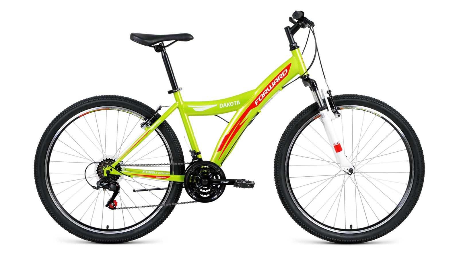 Велосипед Forward Dakota 26 2.0 2019, зеленый, красный