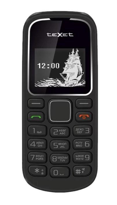 Мобильный телефон Texet ТМ-121, черный цена и фото