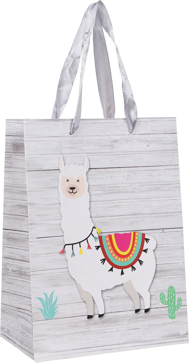 Подарочная упаковка Miland Лама на прогулке, 18 х 23 х 10 см подарочная упаковка miland лама на прогулке 18 х 23 х 10 см