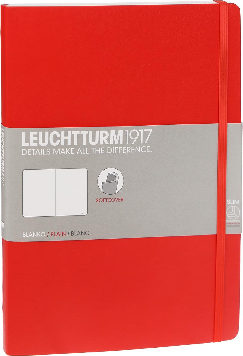 Записная книжка Leuchtturm1917, 349305, красный, B5 (176 x 250 мм), без разметки, 62 листа