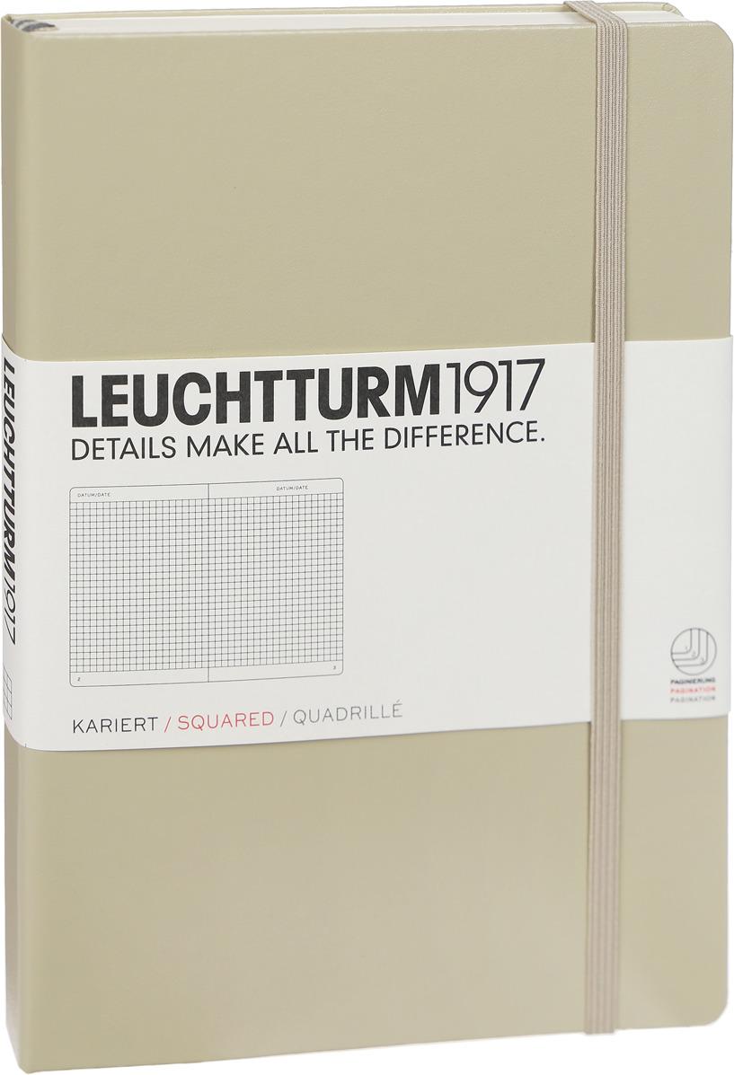 Записная книжка Leuchtturm1917, 354593, бежевый, A5 (148 x 210 мм), в клетку, 125 листов