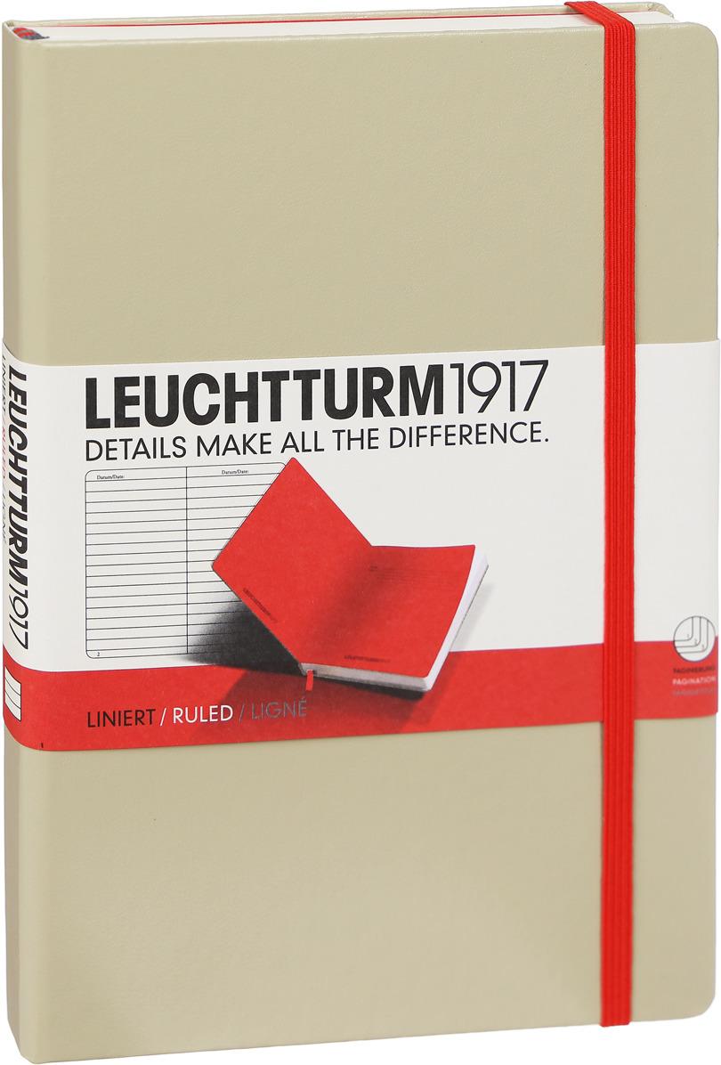 Записная книжка Leuchtturm1917 Bicolore, 355555, песочный;красный, A5 (148 x 210 мм), в линейку, 125 листов