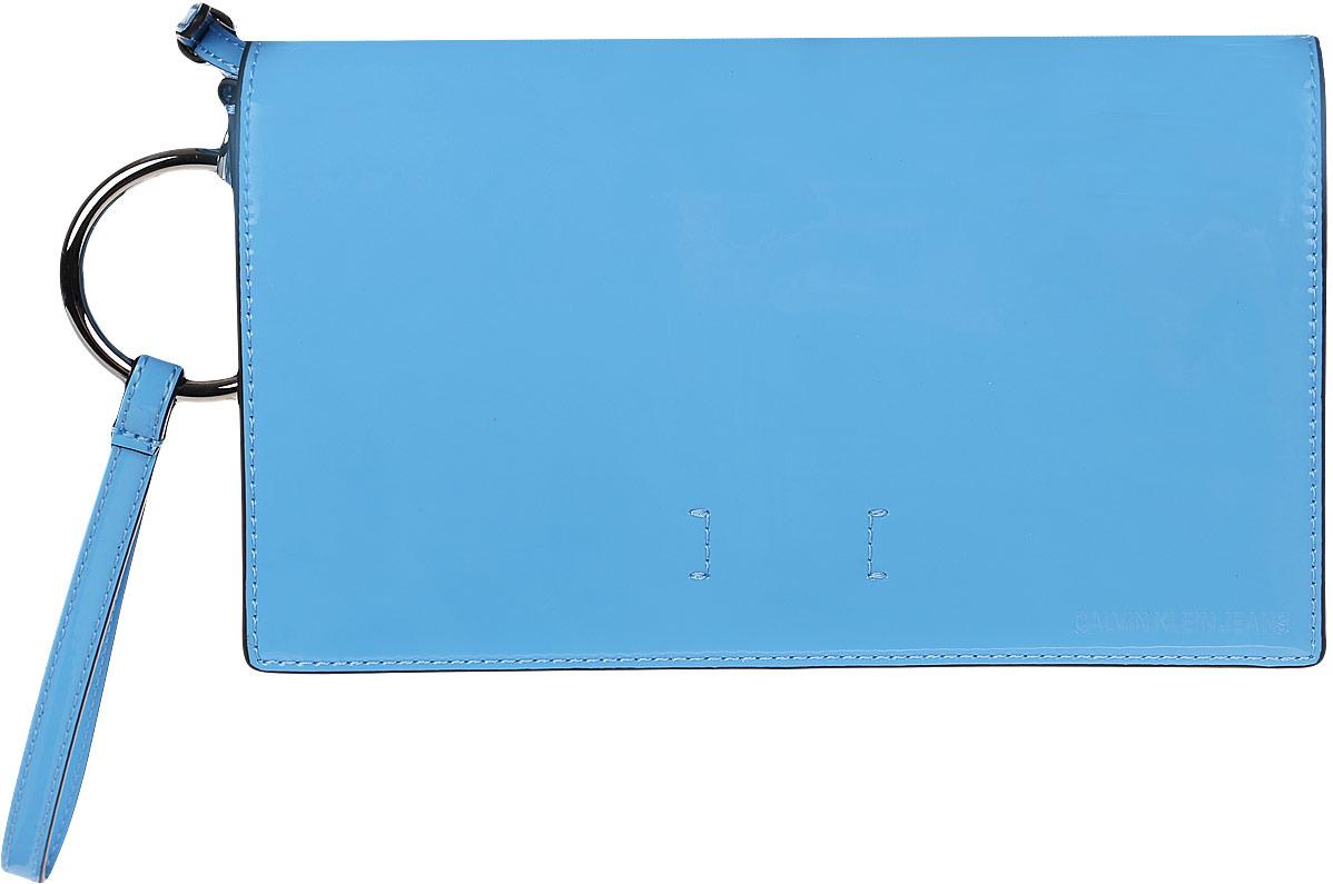 Сумка женская Calvin Klein Jeans, K60K605249, синий рубашка женская calvin klein jeans цвет синий j20j209111 9110 размер s 42 44