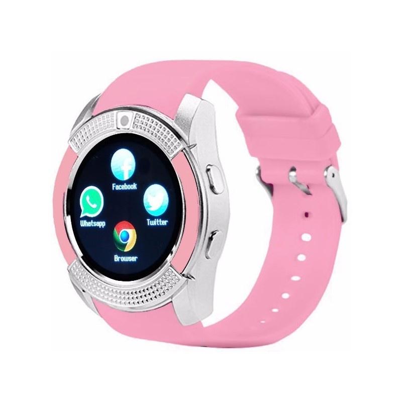 Умные часы ZDK V8(pink), розовый