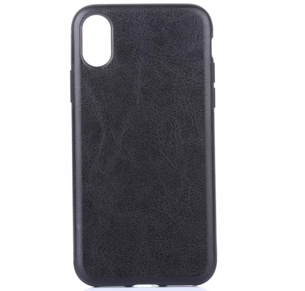 лучшая цена Чехол для сотового телефона Мобильная мода iPhone XR Накладка кожанная Crazy Horse Texture, черный
