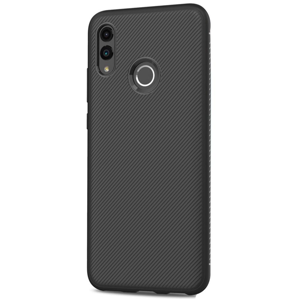 Чехол для сотового телефона Мобильная мода Honor 10 Lite / P Smart (2019) Накладка силиконовая с нескользящим покрытием Jazz Series, черный