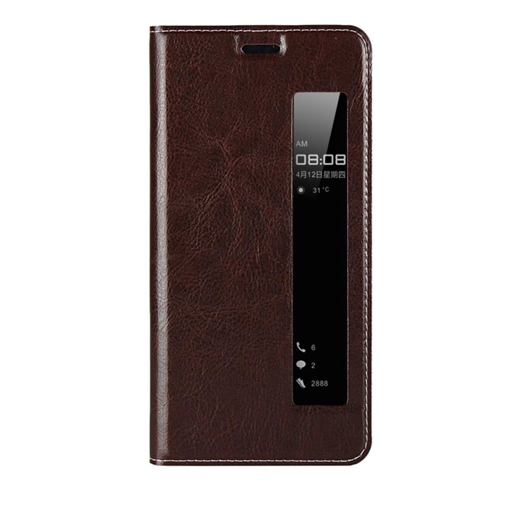 Чехол для сотового телефона Мобильная мода Huawei P20 Pro Чехол-книжка силиконовая с вертикальным окном, темно-коричневый