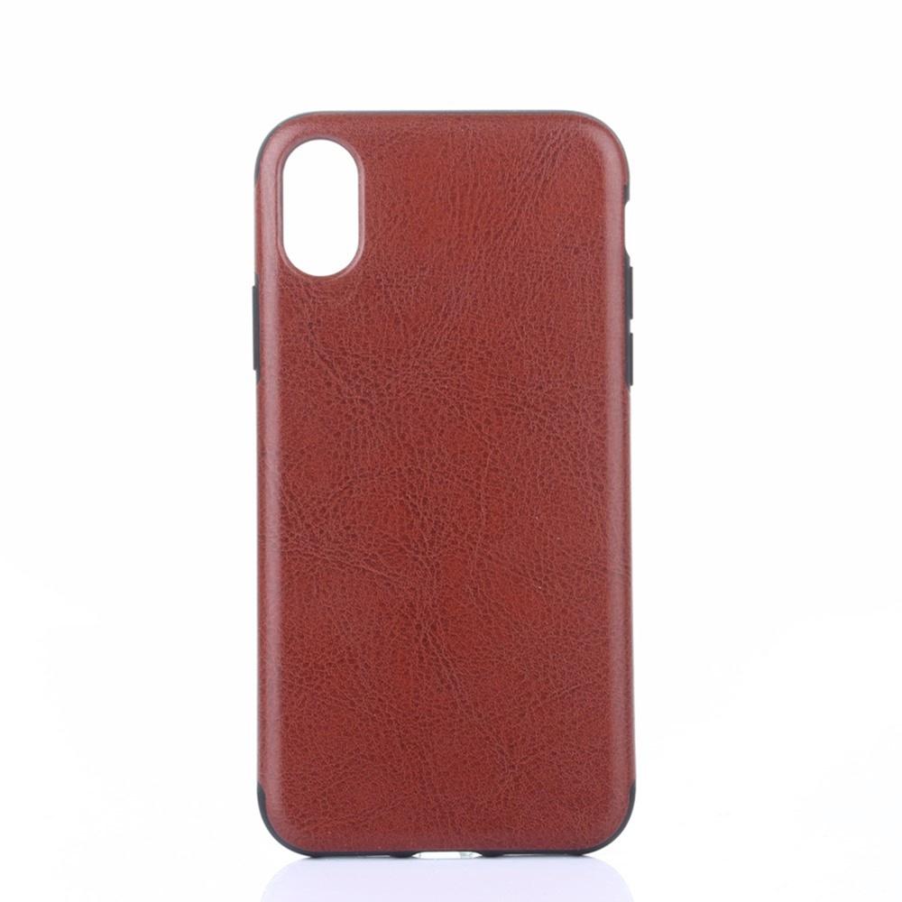 лучшая цена Чехол для сотового телефона Мобильная мода iPhone XR Накладка кожанная Crazy Horse Texture, коричневый