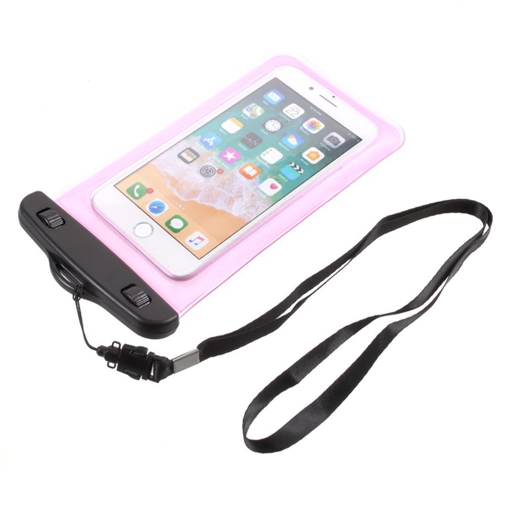 Чехол универсальный Мобильная мода Универсальный Полиетиленовый водонепроницаемый чехол размером 18.5x10 см, розовый