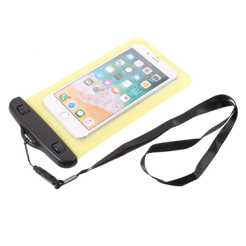 Чехол универсальный Мобильная мода Универсальный Полиетиленовый водонепроницаемый чехол размером 18.5x10 см, желтый