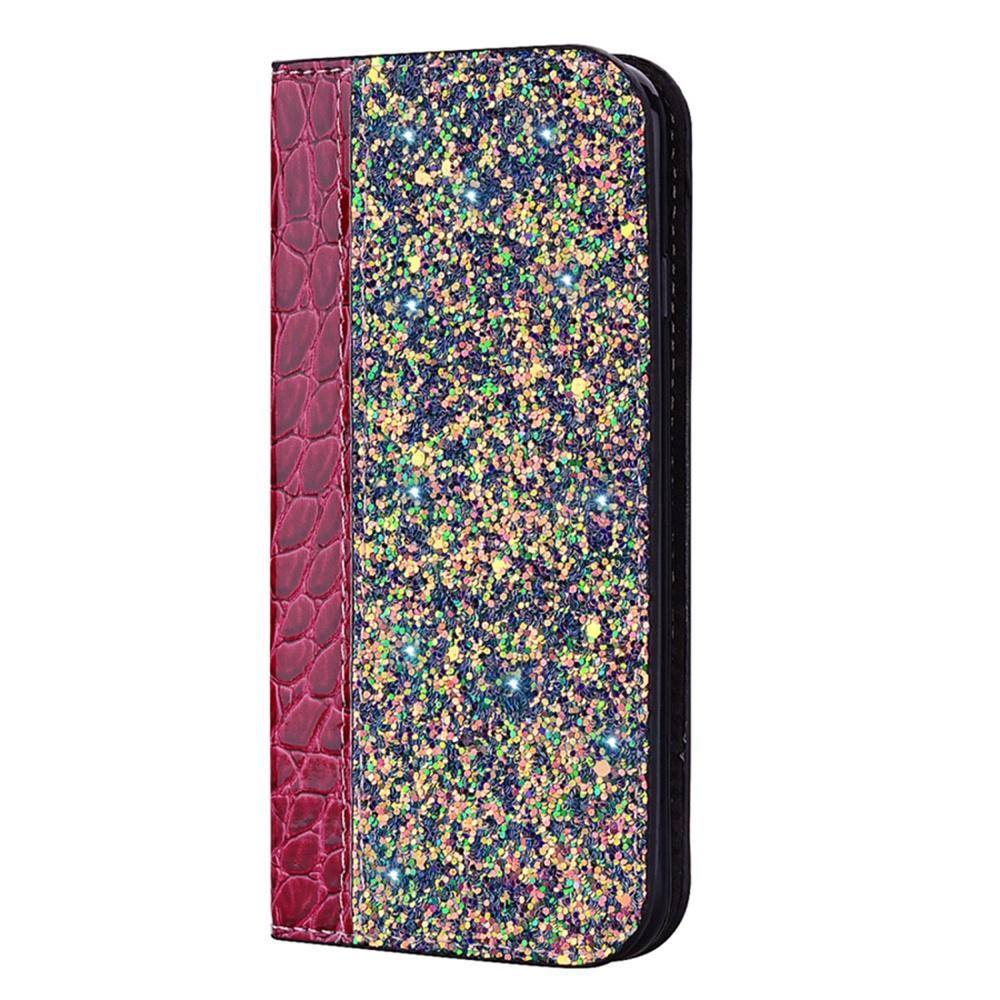 Чехол для сотового телефона Мобильная мода Samsung S10 Чехол-книжка с блестками и структурой крокодильей кожи, красный чехол для сотового телефона мобильная мода samsung s9 чехол книжка пластиковая под оригинал 1533 розовый