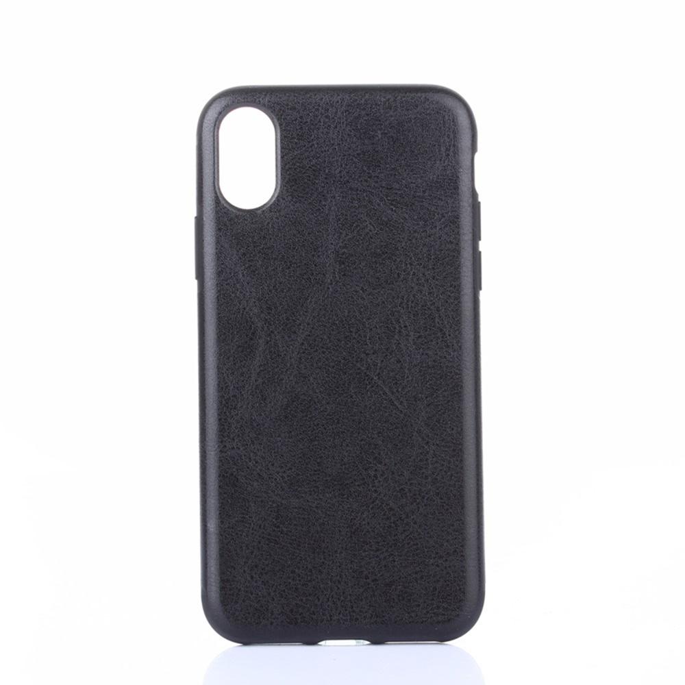 лучшая цена Чехол для сотового телефона Мобильная мода iPhone X Max Накладка кожанная Crazy Horse Texture, черный