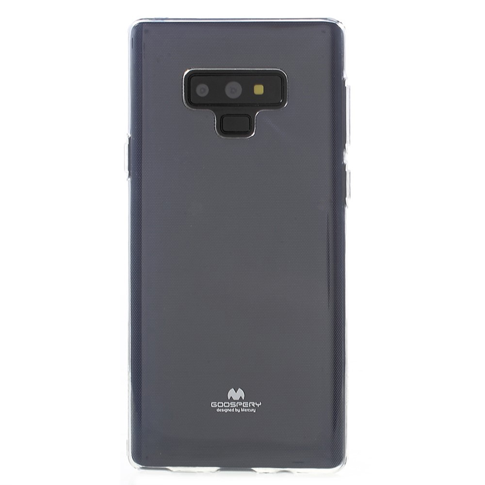 Чехол для сотового телефона Goospery Samsung Note 9 Накладка силиконовая ламинированная пленкой Jelly Case, прозрачный