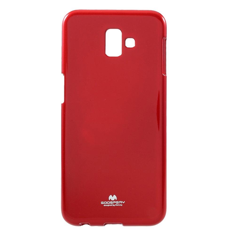 Чехол для сотового телефона Мобильная мода Samsung J6 Plus Накладка силиконовая ламинированная пленкой Jelly Case, красный чехол для сотового телефона мобильная мода samsung grand prime g530 j2 prime накладка силиконовая jelly case