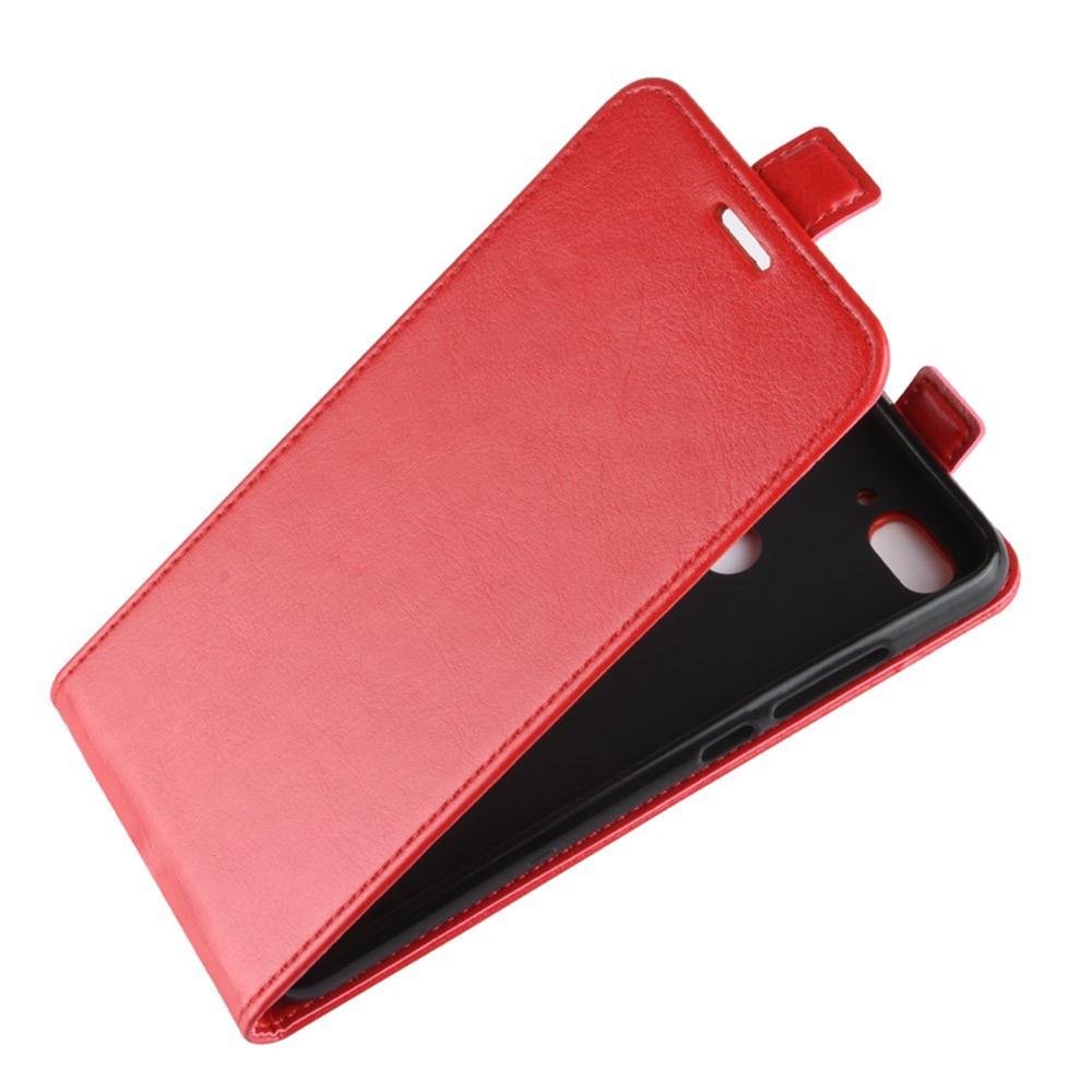 Чехол для сотового телефона Мобильная мода Xiaomi Mi 8 Lite Чехол-книжка вертикальный флип с отделом для карты, красный черное дерево дизайн pu кожа флип обложка кошелек карты держатель чехол для wiko pulp fab 4g