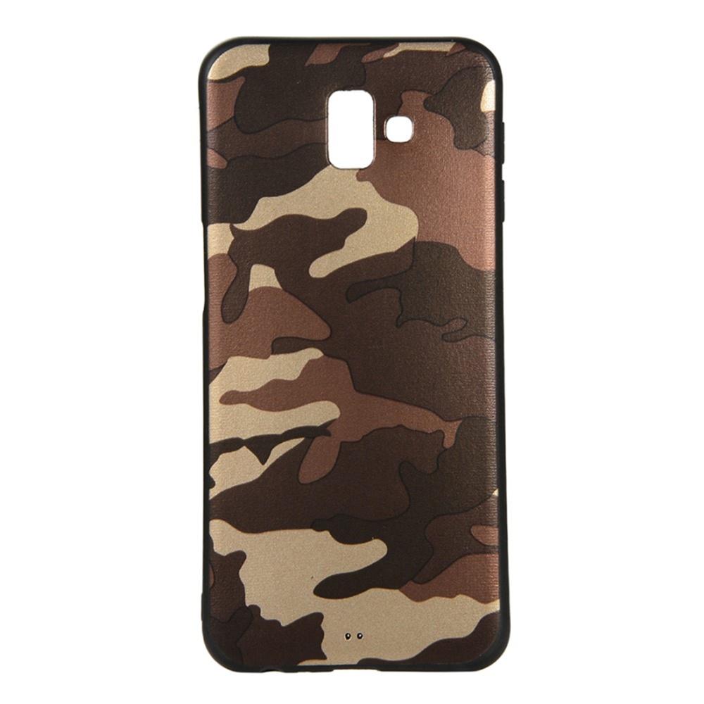 Чехол для сотового телефона Мобильная мода Samsung J6 Plus Накладка силиконовая с камуфляжным узором, коричневый пароварка для булочек lekue силиконовая цвет коричневый 3400704m10m017