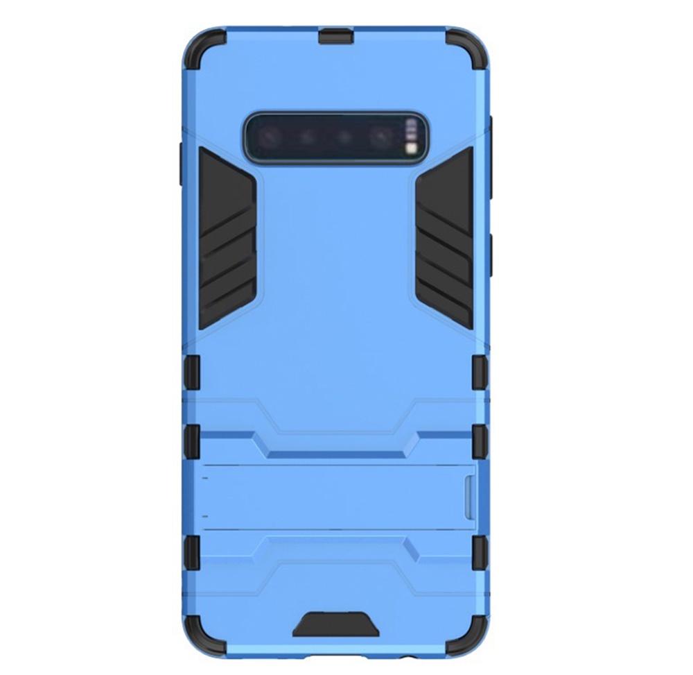 Чехол для сотового телефона Мобильная мода Samsung S10 Накладка противоударная с подставкой трансформер, синий