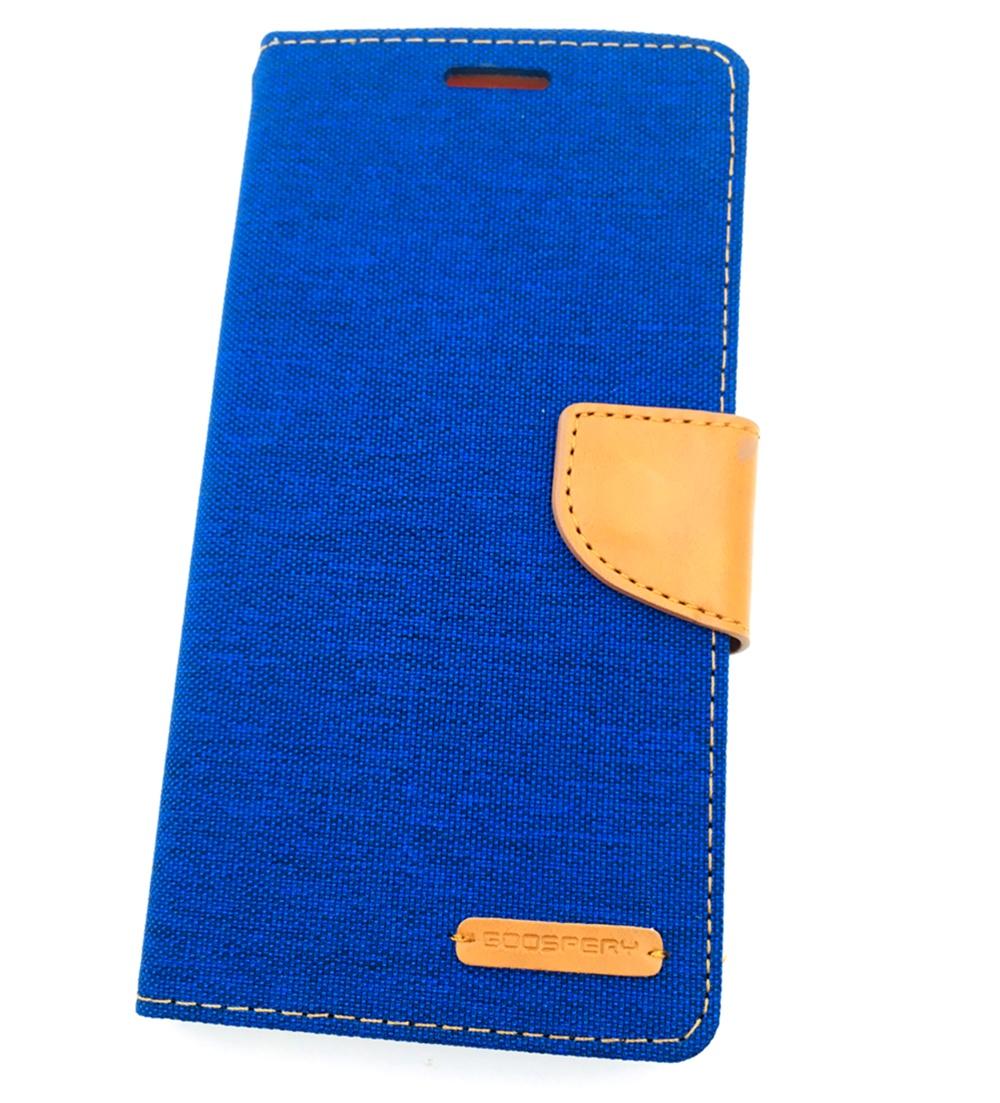 Чехол для сотового телефона Goospery Samsung A7 2016 Чехол-книжка силиконовая с отделом для карт Canvas Diary, синий