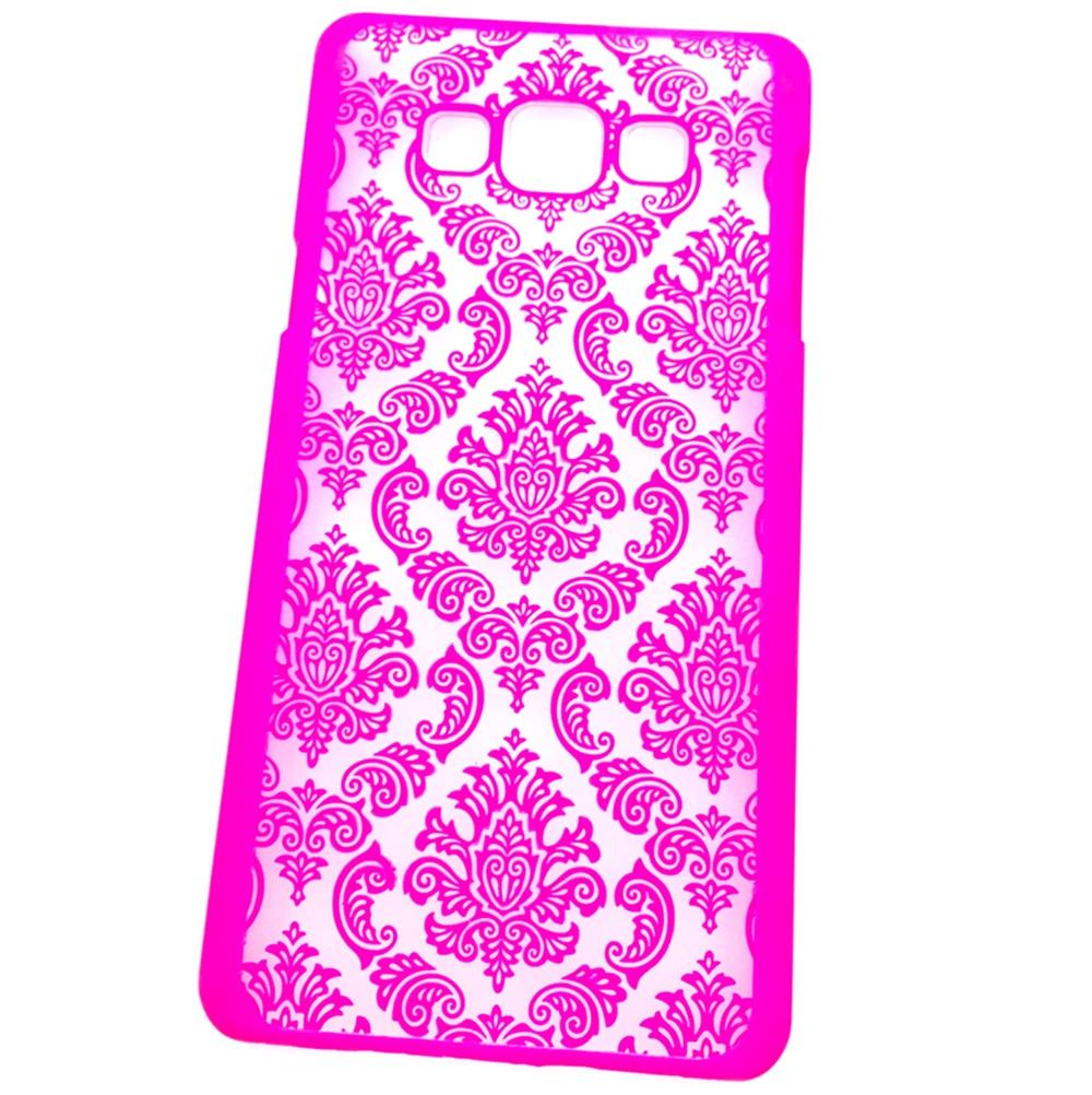 Чехол для сотового телефона Мобильная мода Samsung A7 2015 Накладка пластиковая с кружевным рисунком, розовый чехол для сотового телефона мобильная мода samsung s9 чехол книжка пластиковая под оригинал 1533 розовый