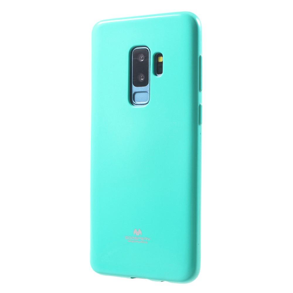 Чехол для сотового телефона Goospery Samsung S9 Plus Накладка силиконовая ламинированная пленкой MERCURY, бирюзовый стоимость