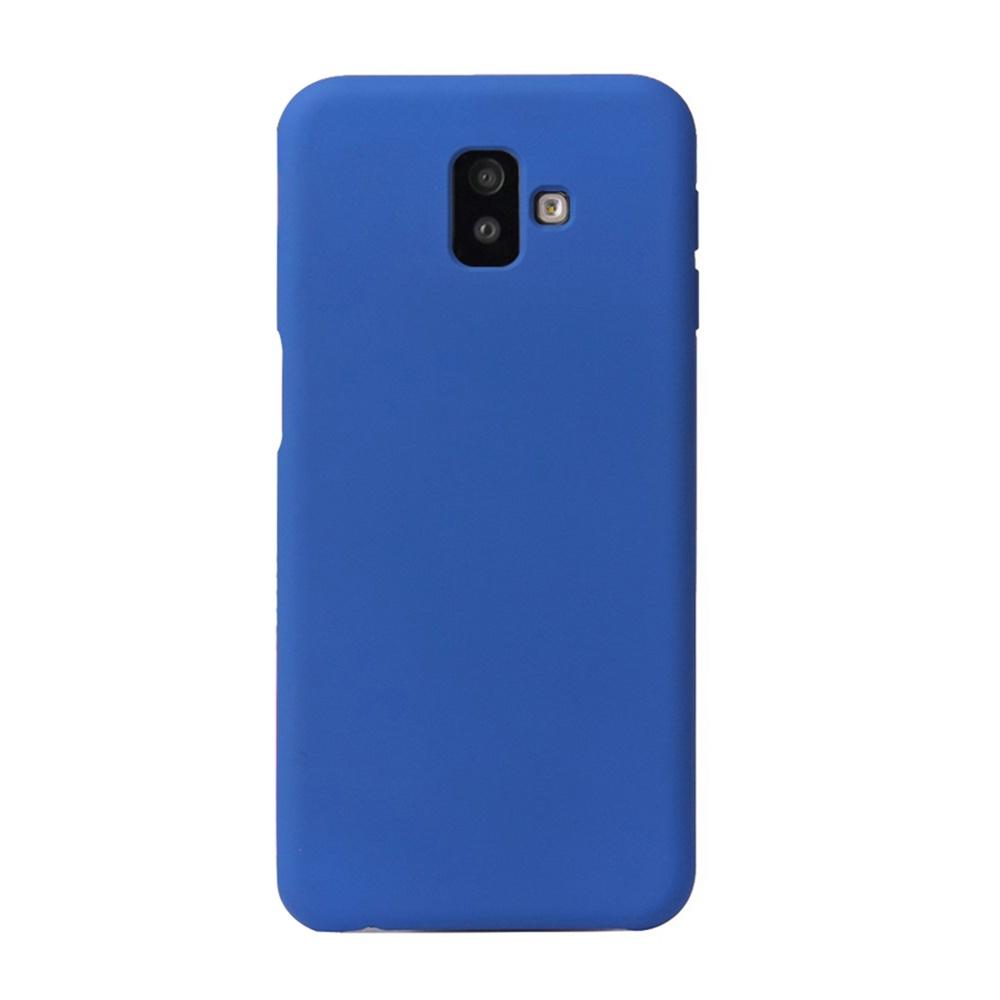 Чехол для сотового телефона Мобильная мода Samsung J6 Plus Накладка силиконовая с нескользящим покрытием HOWMAK, синий