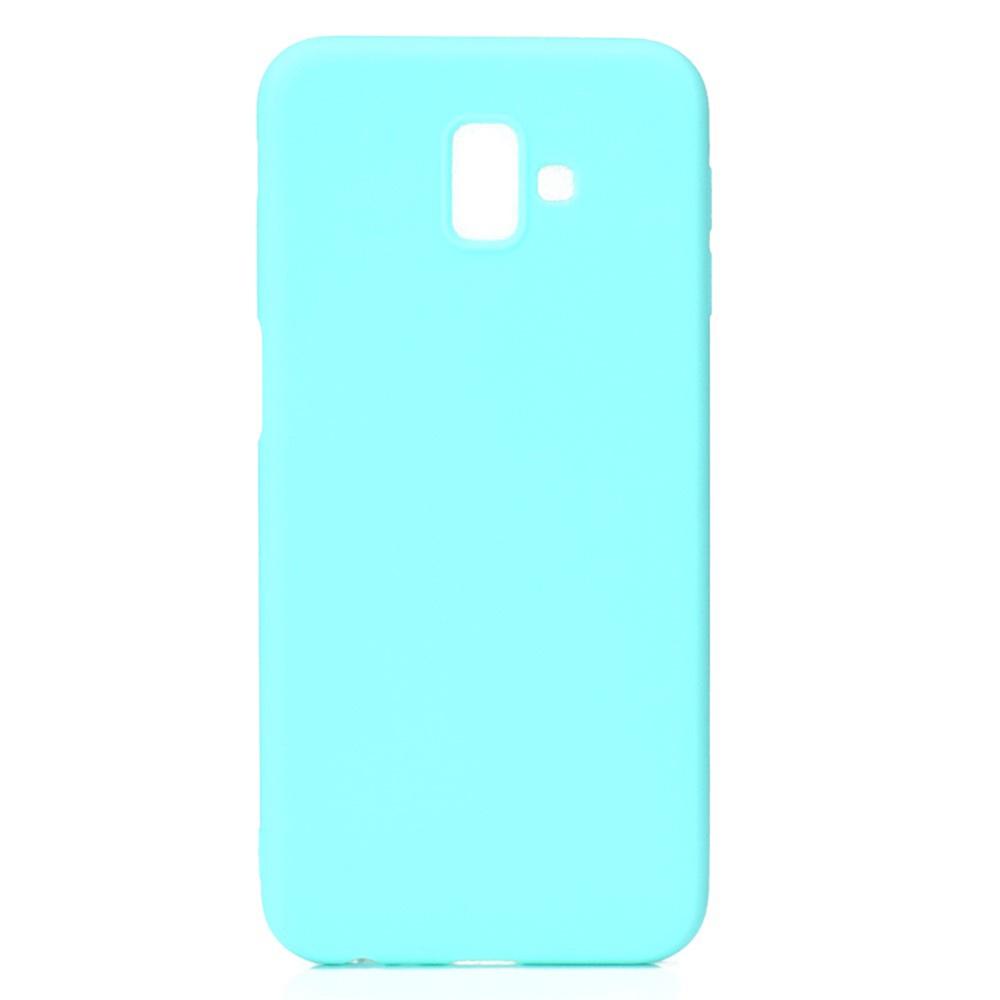 Чехол для сотового телефона Мобильная мода Samsung J6 Plus Накладка силиконовая с нескользящим покрытием, бирюзовый
