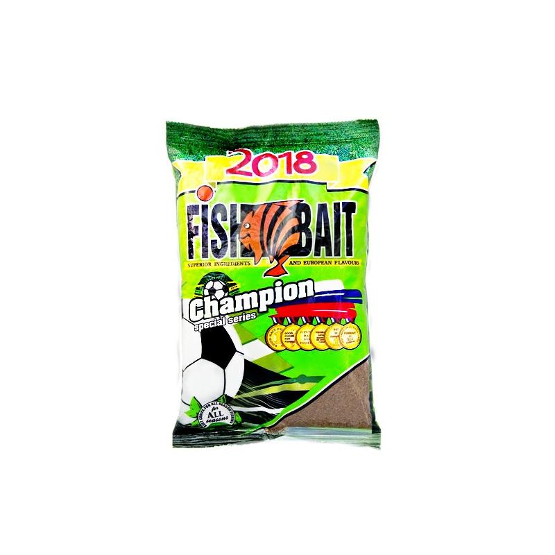 Аксессуар для рыбалки FISHBAIT Прикормка Champion Sport - крупная плотва, вес 1кг., коричневый прикормка лещ плотва 1000гр