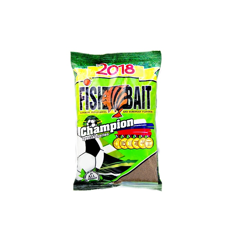 Аксессуар для рыбалки FISHBAIT Прикормка Champion Sport - плотва, вес 1кг., коричневый