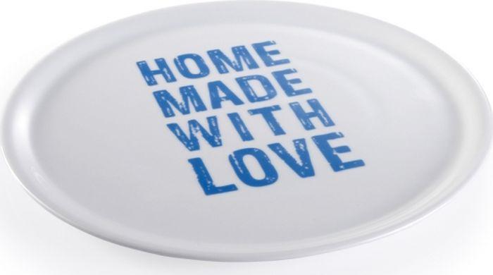 Фото - Тарелка для пиццы Tescoma Home Made With Love, цвет: белый, синий, диаметр 33 см тарелка turon porcelain атлас цвет белый синий золотистый диаметр 22 5 см