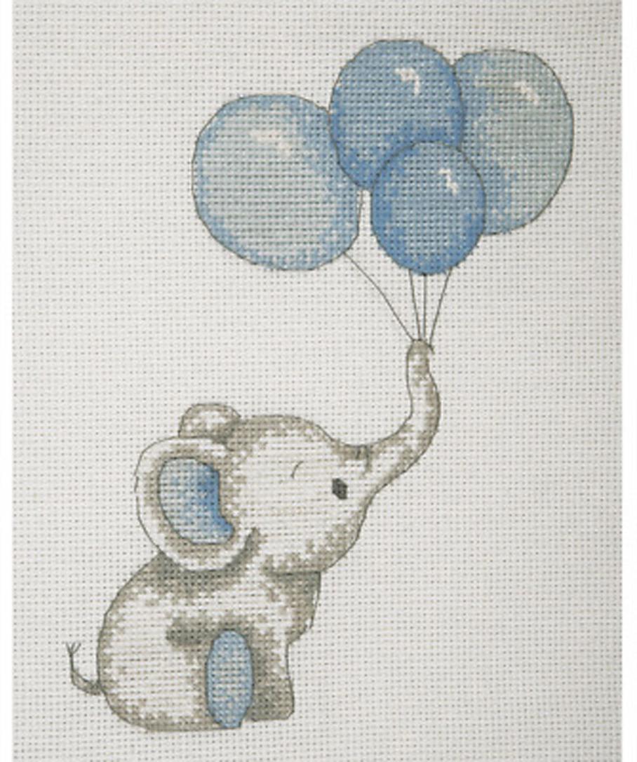Набор для вышивания крестом Anchor Милые шарики, для мальчика, 20 х 16 см