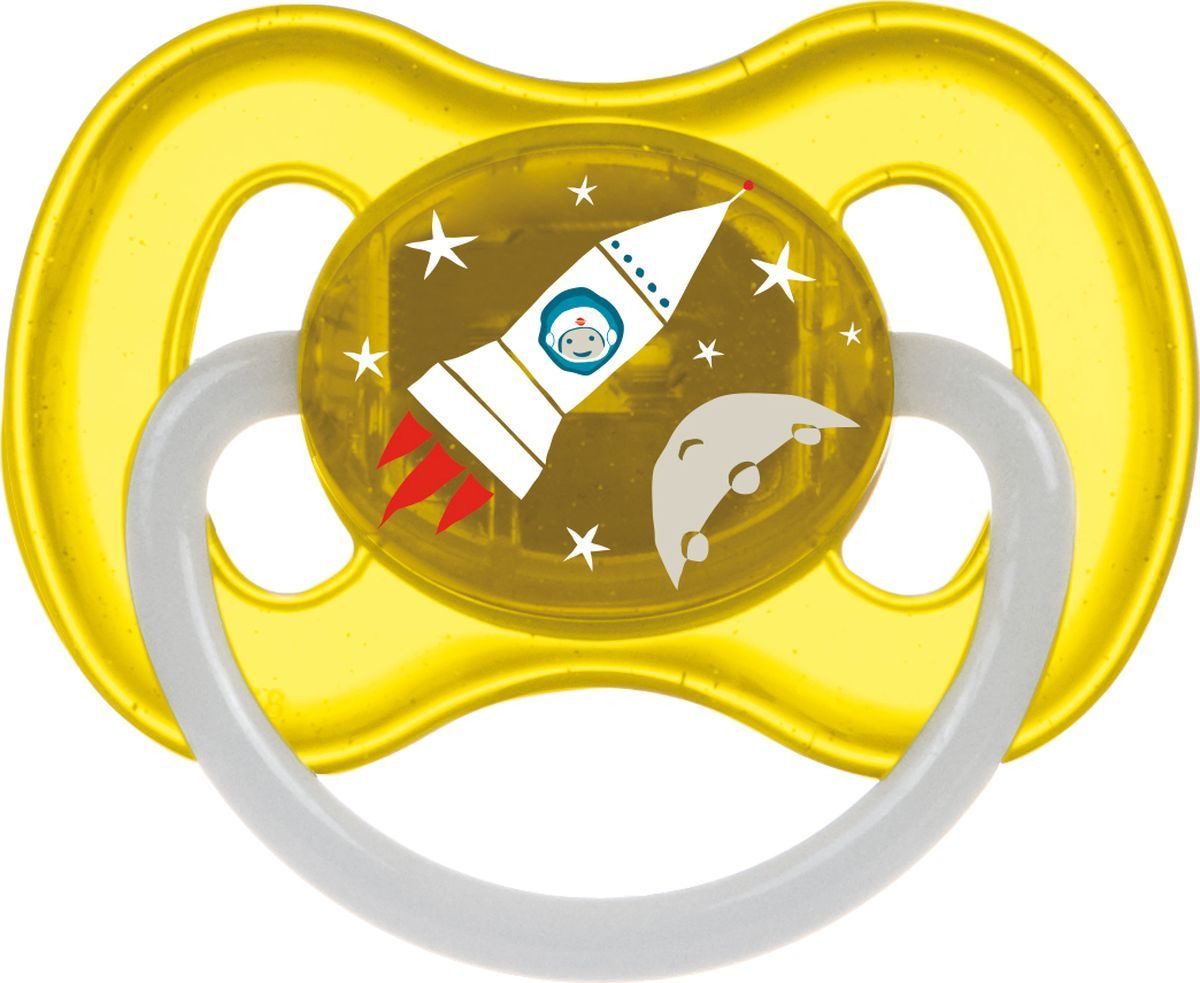 Пустышка Canpol Babies Space 6-18, желтый
