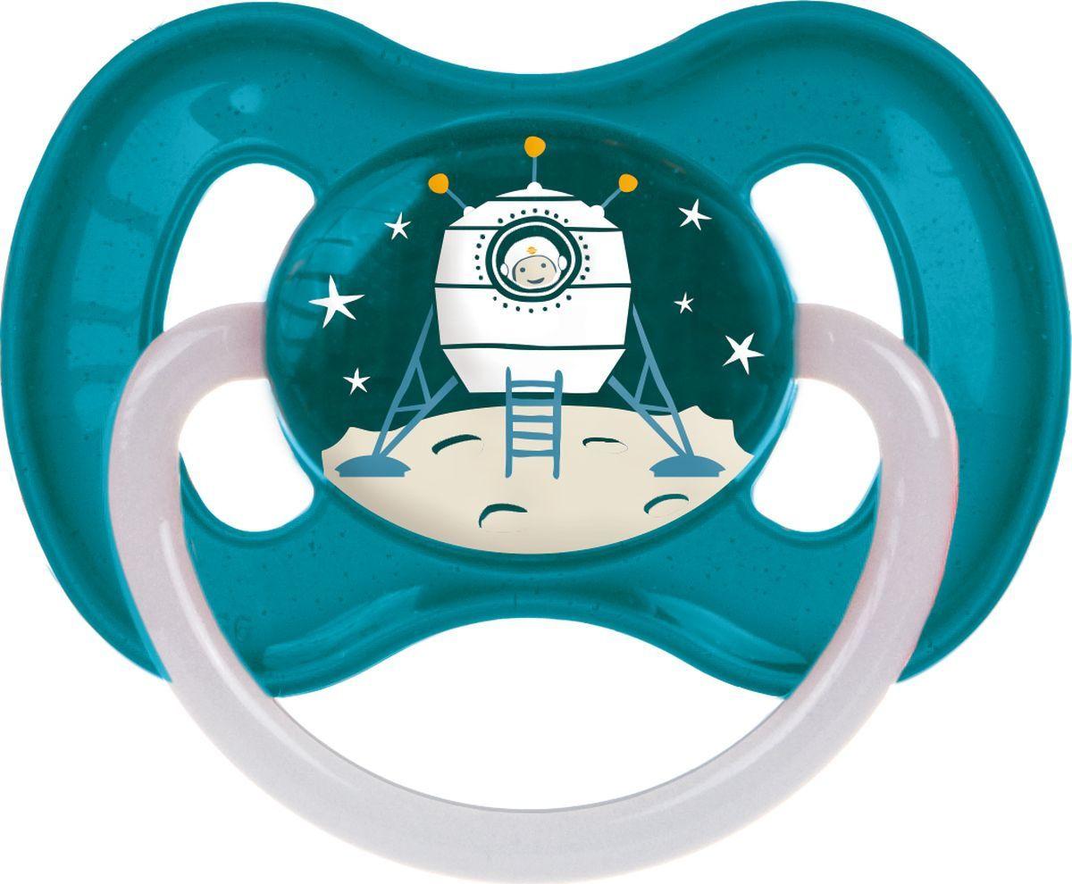 Пустышка Canpol Babies Space 6-18, бирюзовый