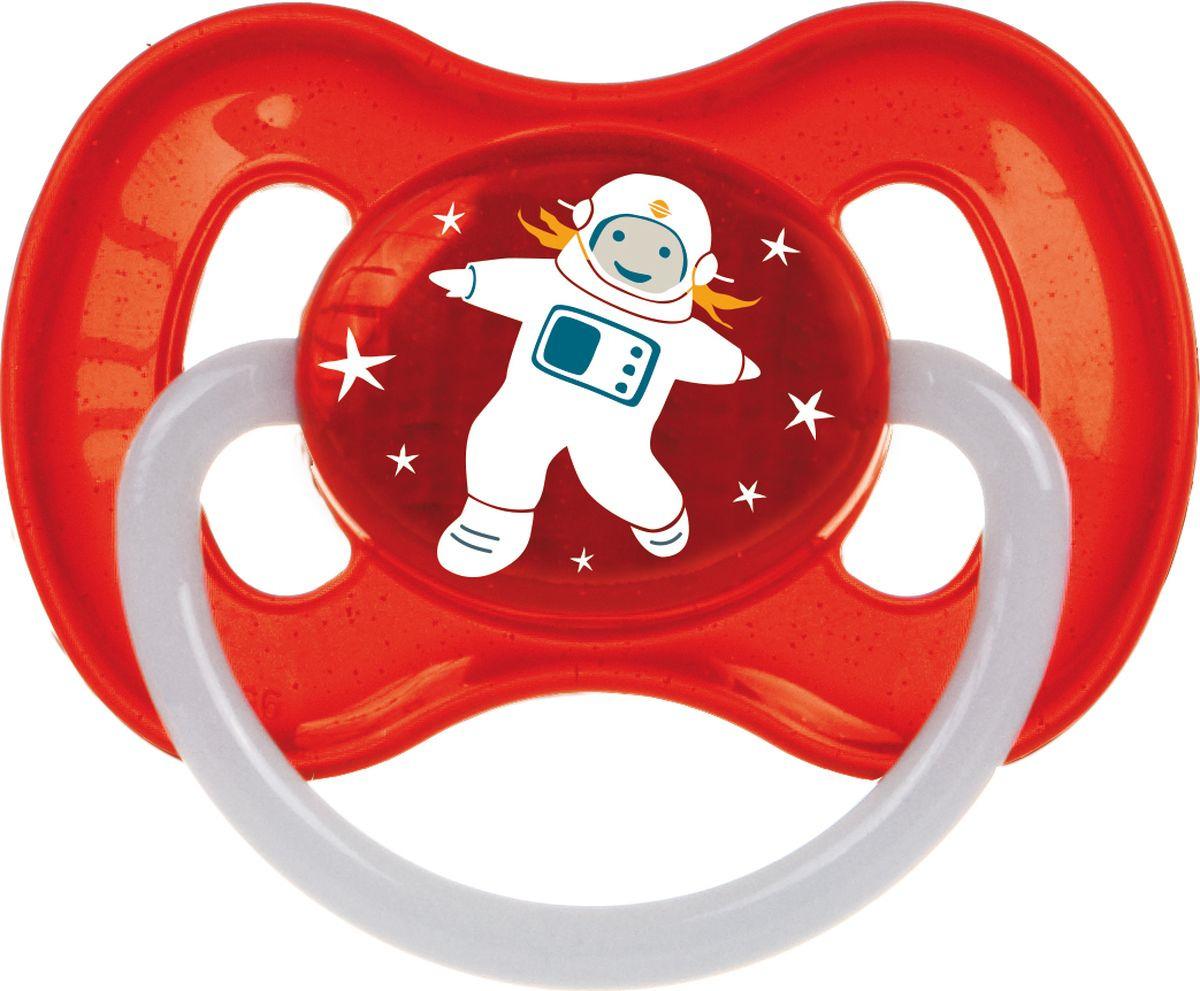 Пустышка Canpol Babies Space 6-18, красный