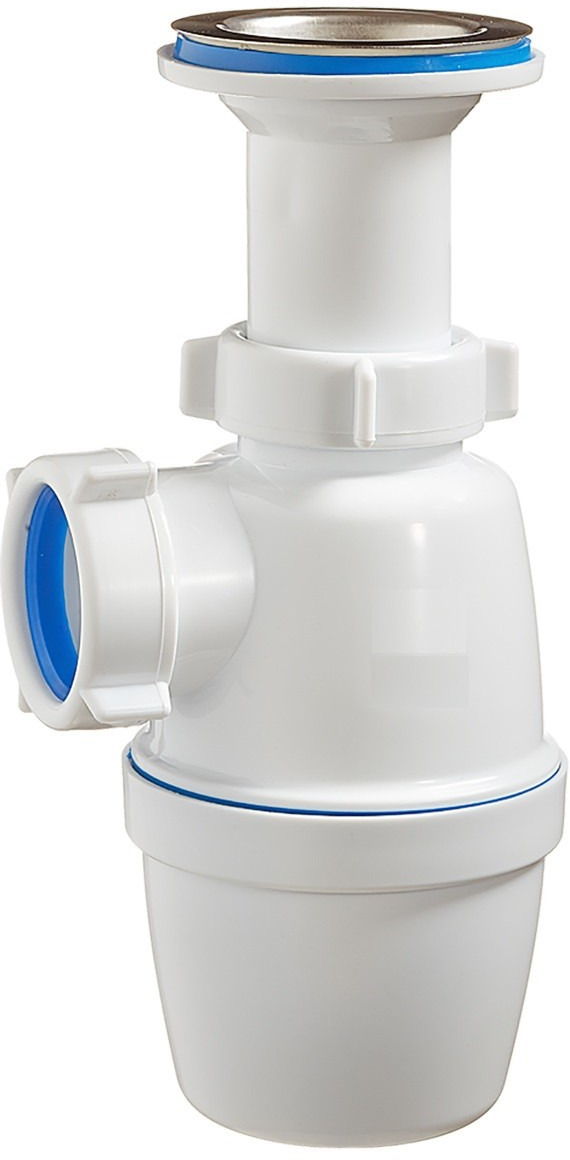 Фото - Сифон Wirquin Минор, 30718048, для умывальника сифон для раковины 1 1 4 без перелива нано 67мм выход в канализацию 40 мм