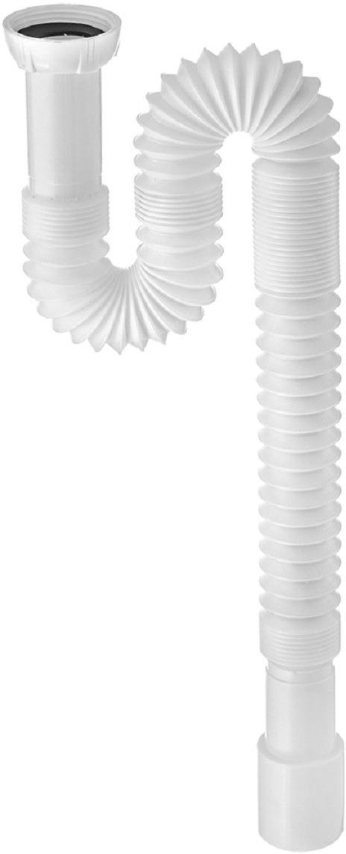 Сифон Wirquin, 30717995, для кухонной мойки, гофрированный, 1,2 м гофра для унитаза