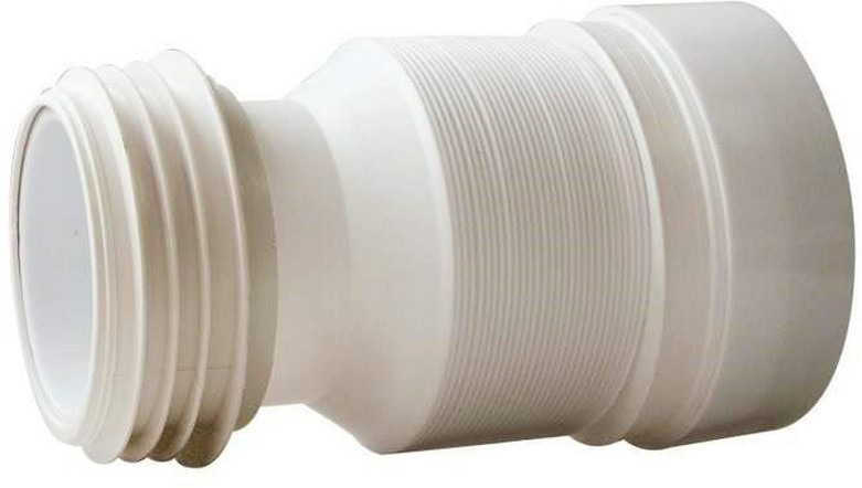 Труба для унитаза Wirquin, 70984964, гофрированная, 9,5 см труба гофрированная гибкая пвх d 25мм 50м лёгкая с протяжкой серый
