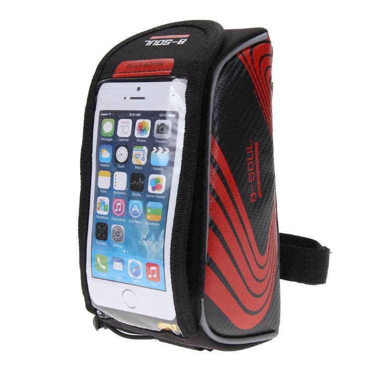 Велосипедное крепление для мобильного Migliores Сумка для смартфона, красный
