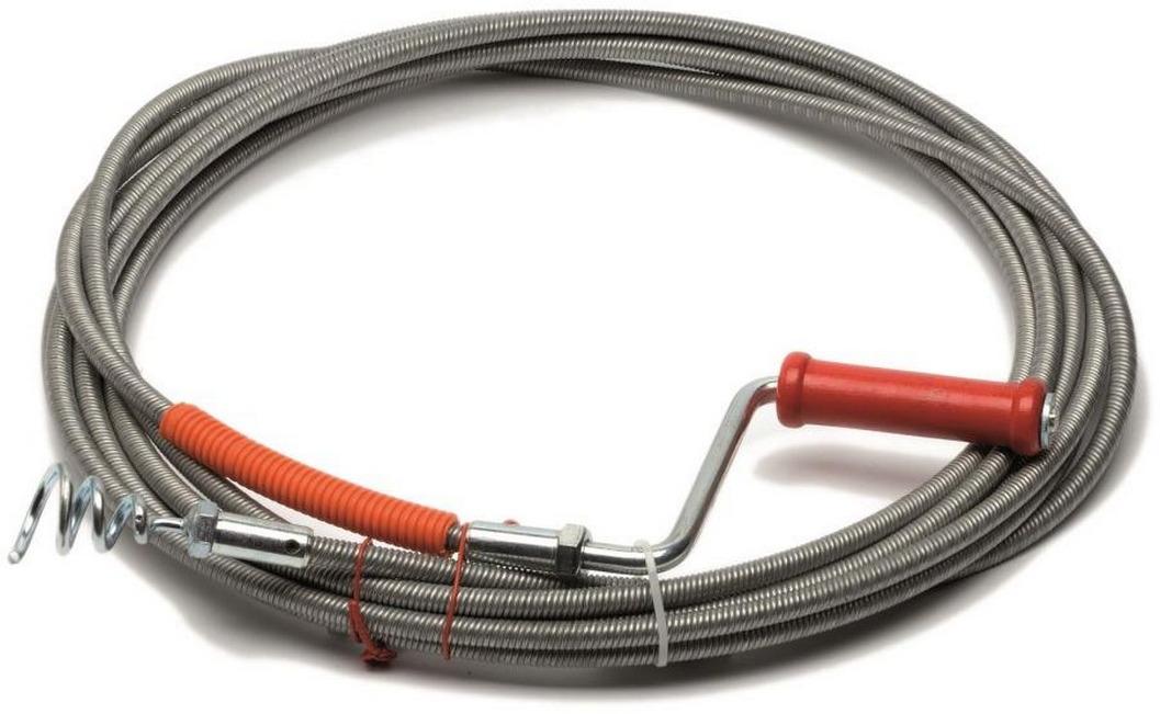 Трос сантехнический пружинный Wirquin, 70980831, 2,5 м трос для прочистки канализационных труб 9 мм х 10 м