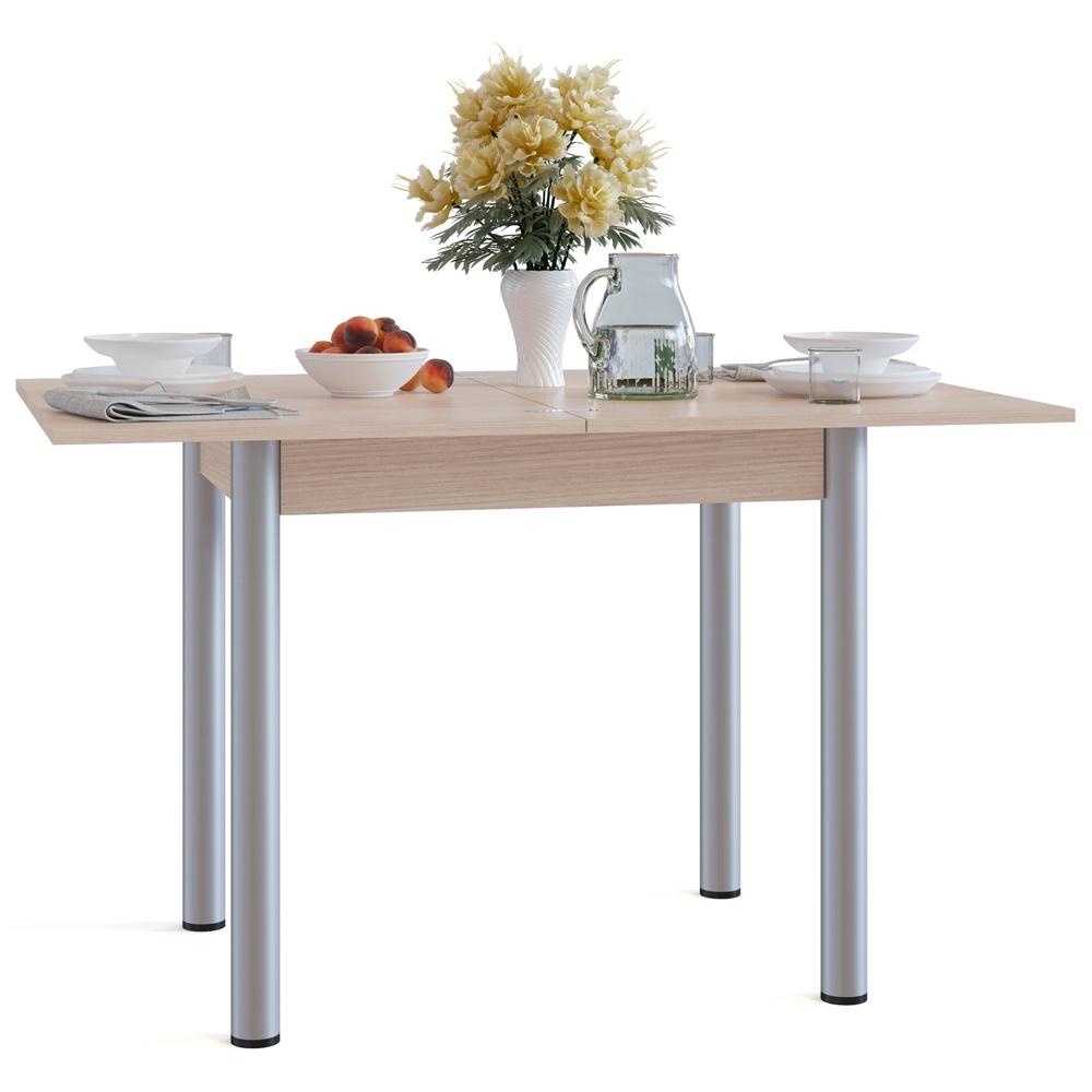 Стол раскладной Сокол СО-1м(БУКВА М!!!) раскладной, цвет белёный дуб, Ламинированная ДСП стол обеденный раскладной 4296 stc доступные цвета дуб в красноту