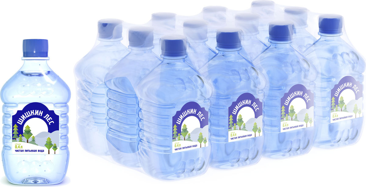 Шишкин лес вода питьевая, 12 шт по 0,4 л